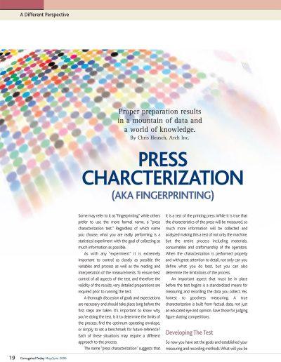 Press Characterization