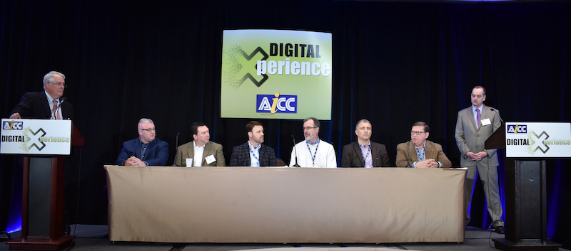 Heusch and Kelley moderate converter panel at Digital Xperience