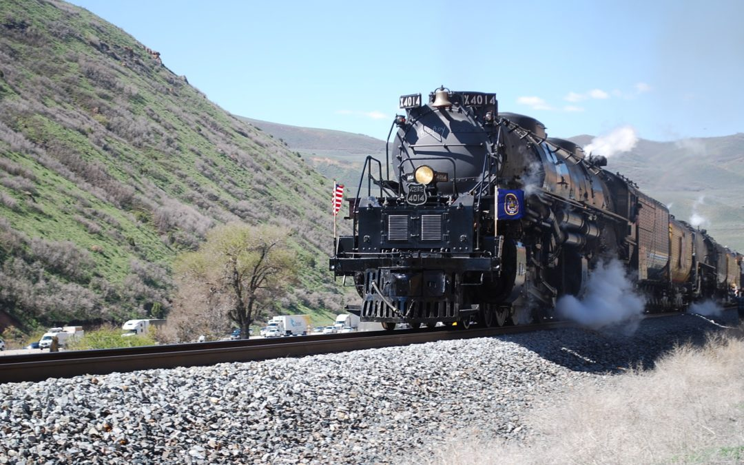 "Union Pacific ""Big Boy"" 4014 climbing Echo Canyon, UT May 12th, 2019"